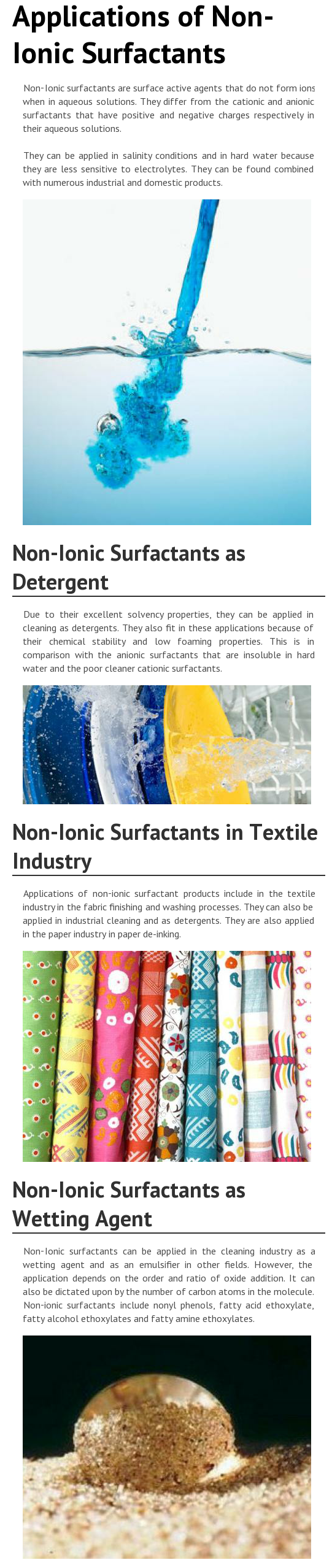 Non-Ionic Surface Active Agents & Their Industrial Applications [INFOGRAPH]